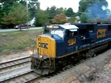 Freight Train 3 Engine Mixed Freight CSX & NS Power Waxhaw NC