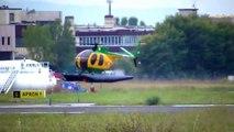 Elicottero NH500 della Guardia di Finanza in decollo da Firenze (HD)