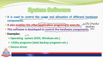 Computer Softwares & Their types - Video Dailymotion