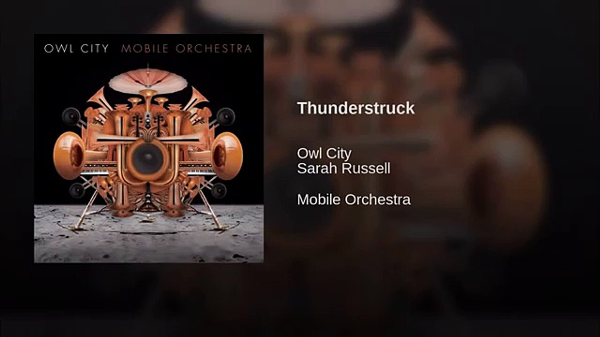 Owl City - Thunderstruck (feat  Sarah Russel)