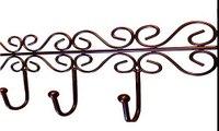 Details niceeshop(TM) Over the Door Iron 5 Hook Rack Hanger for Clothes Coat Hat Bags,Br Deal