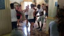 Rueda cours de salsa du matin stage Carnaval de Santiago de Cuba 2015