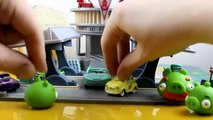 Disney Pixar Cars Flo s V8 Cafe gets taken over by the Angry Birds  Green Pigs!