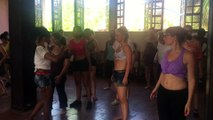 Cours de Rumba lors du stage de danse afro cubains de l 'ecole Salsabor Paris
