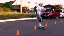 Slalom - Alta Vista Hills - Canoas, RS. Skate Longboard