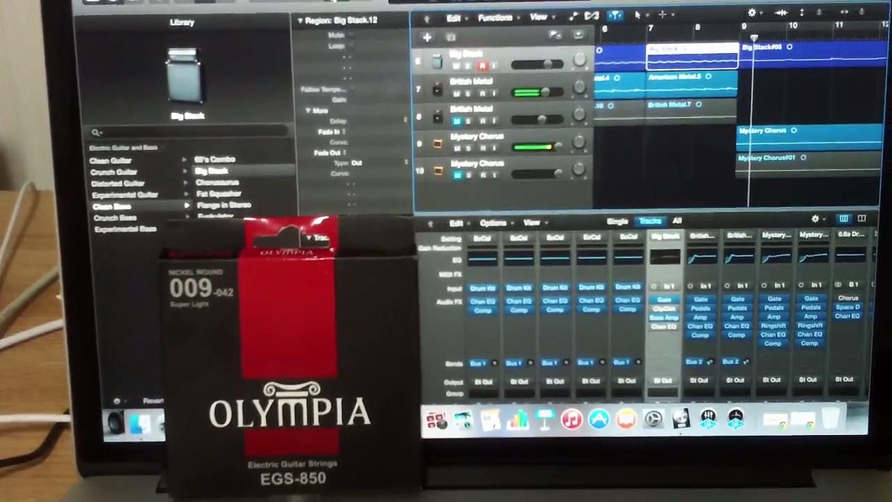 Olympia  E. Guitar Strings Test