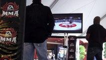 "Jason ""Mayhem"" Miller vs King Mo Lawal playing EA Sports Video Game (EA Sports MMA Demo)"