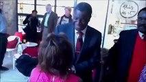 Coco Ramazani  &  Dr  Mukwege DRC  NYC  October 29  2013