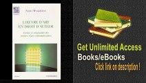 L'oeuvre d'Art En Droit d'Auteur Forme et Originalite Oeuvres d' PDF