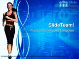 Woman Running Health PowerPoint Templates Themes And Backgrounds ppt themes