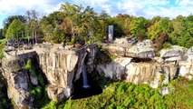 Lookout Mountain's Rock City, Georgia and Ruby Falls - An Aerial Perspective