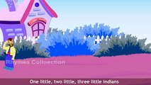 Ten Little Indians English Nursery Rhymes | Animated Rhymes | Ten Little Indians Rhymes With Action