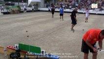 Huitièmes de finale M1, France Simple, Sport Boules, Chalamont 2015