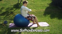 Extreme Ab Exercises - Weighted Crunch on Exercise Ball For Six Pack Abs