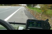 john Deere Gator XUV Haulin Arsse On Interstate Highway!