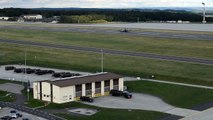 """F-22 Raptor Stealth """"Arrive For First-Ever Training Deployment To Germany"""" HD"""
