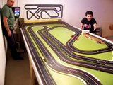 HO Slot car Drag Racing for fun    Auto World 2 in 1 Race
