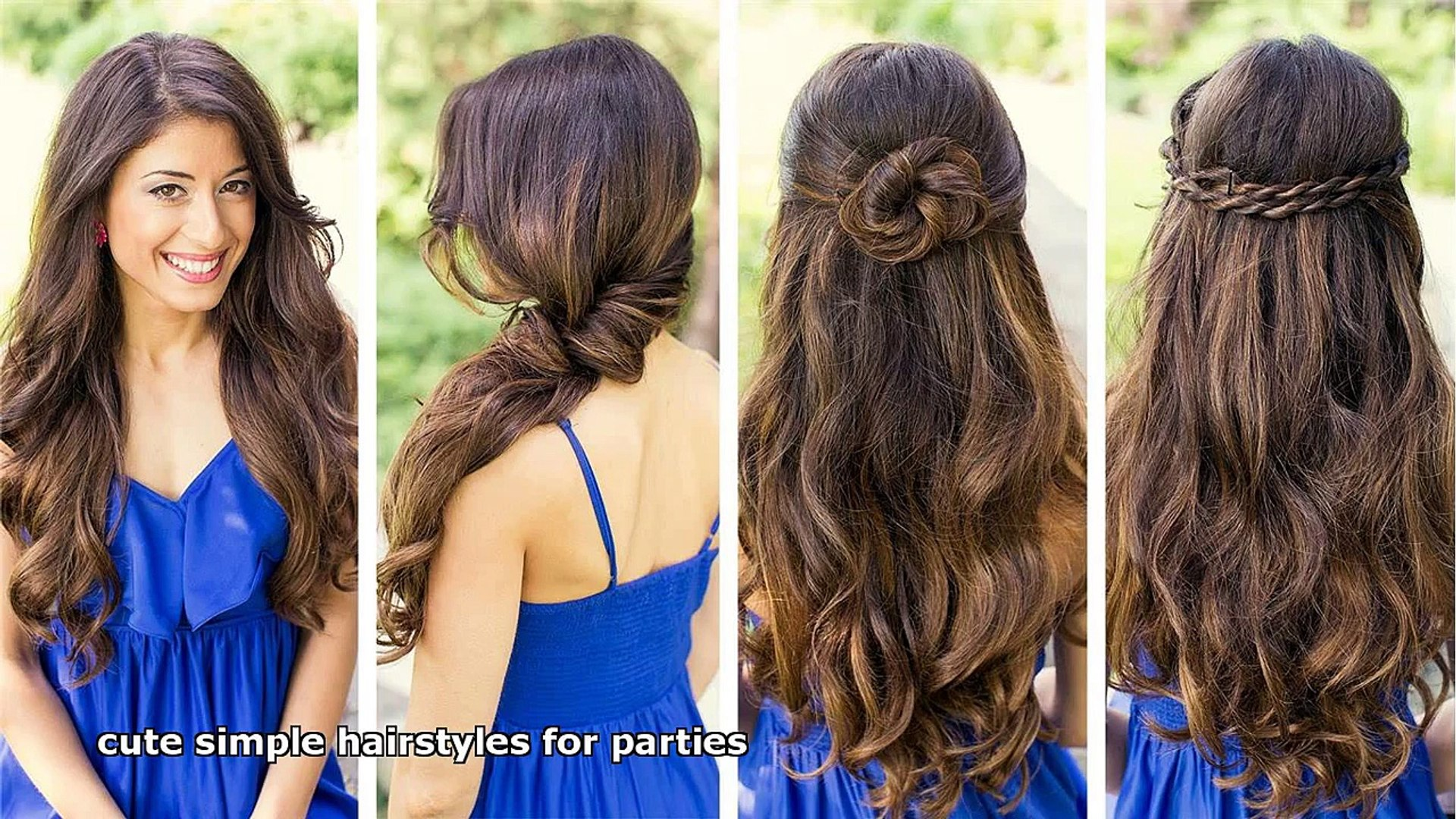 Enjoyable Cute Simple Hairstyles For Parties Video Dailymotion Natural Hairstyles Runnerswayorg
