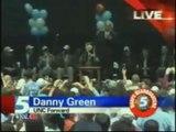 Danny Green Jump Around Dance 2009 Championship Tar Heel Edition