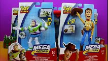 Toy Story Disney Pixar Mega Action Figures Woody, Buzz Lightyear, Alien, Soldiers