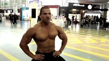 Kai Greene visits New Zealand behind the scenes  Guest Pose 2013 NZIFBB Show