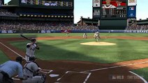 MLB 11: The Show - Tim Hudson takes Zack Greinke deep with a two run bomb high off the LF foul pole