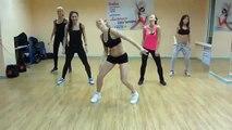 Dance RnB steep and beautiful girls dancing in dance studio