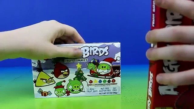 Angry Birds Fruit Gummies Christmas Candy Red Bird, Green Pig, Blue Bird 2