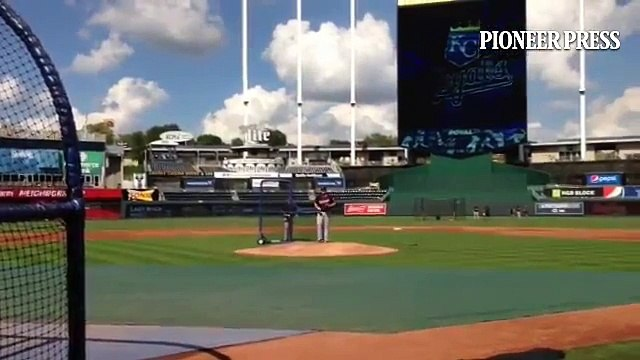 Video: Phil Hughes returns to mound for simulated game in KC. #MNTwins