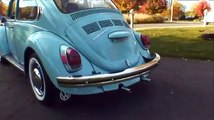 Classic Vintage 1971 Standard VW Volkswagen Beetle Bug Sedan Baby Blue on Auction!