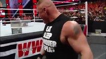 Brock Lesnar brawls with Mark Henry_ Raw, March 3, 2014 WWE Wrestling