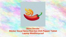 Sticker Decal Spicy Red Hot Chili Pepper Tablet Laptop Weatherproof