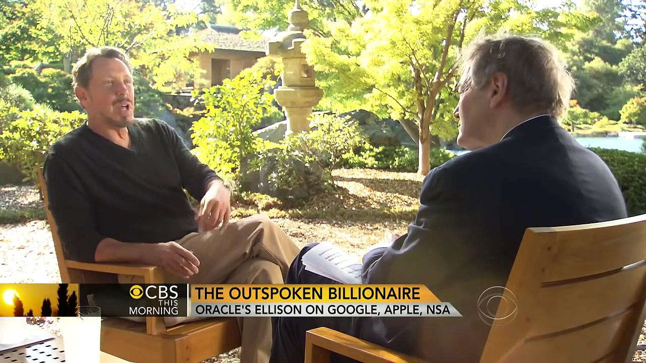 Larry Ellison Talks Steve Jobs and Evil Google