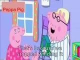 Peppa Pig Cartoon Cuckoo Clock with subtitles