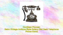 Retro Vintage Antique Style Rotary Dial Desk Telephone Phone Home