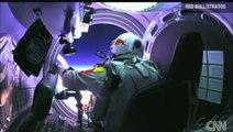 Full -Felix Baumgartner Breaks speed of sound 834.37 mph! @ Free Fall Jumping From Stratosphere