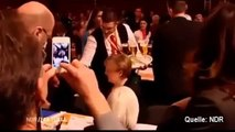 Clumsy Waiter Spills Drink On Angela Merkel