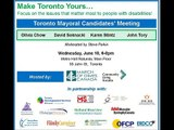 Toronto Mayoral Candidates' Meeting: Question 3 - Employment for People with Disabilities