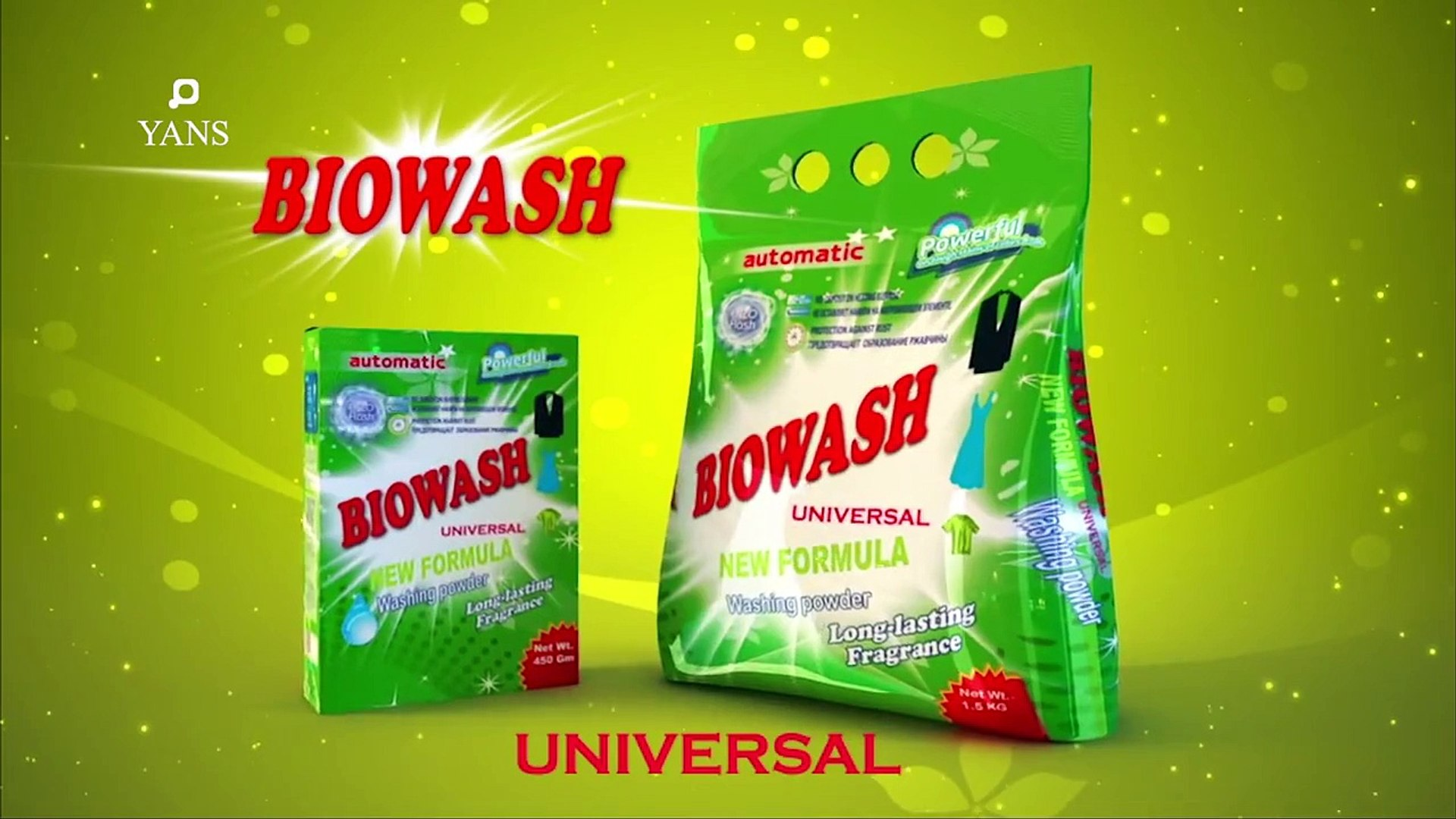 Biowash washing powder : 3D Animation by yansmedia com