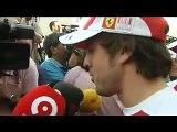 Fernando Alonso en Bahrain.  Declaraciones del Jueves. Ferrari 2010.