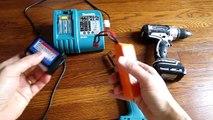 Use inexpensive lipo batteries to run cordless drills