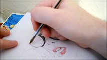 Speed Drawing: Beautiful Girls Face Pen Drawing|Gabby Berry