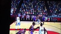 Kobe Bryant dunks over defender nba 2k12 for ps2
