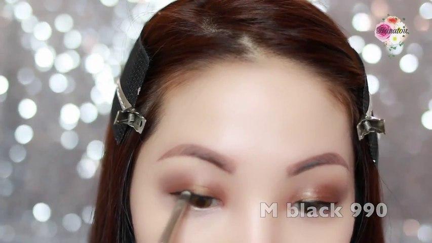【Hanatou】大地色系煙燻眼妝 Earth Tone Smoky Eyes Makeup