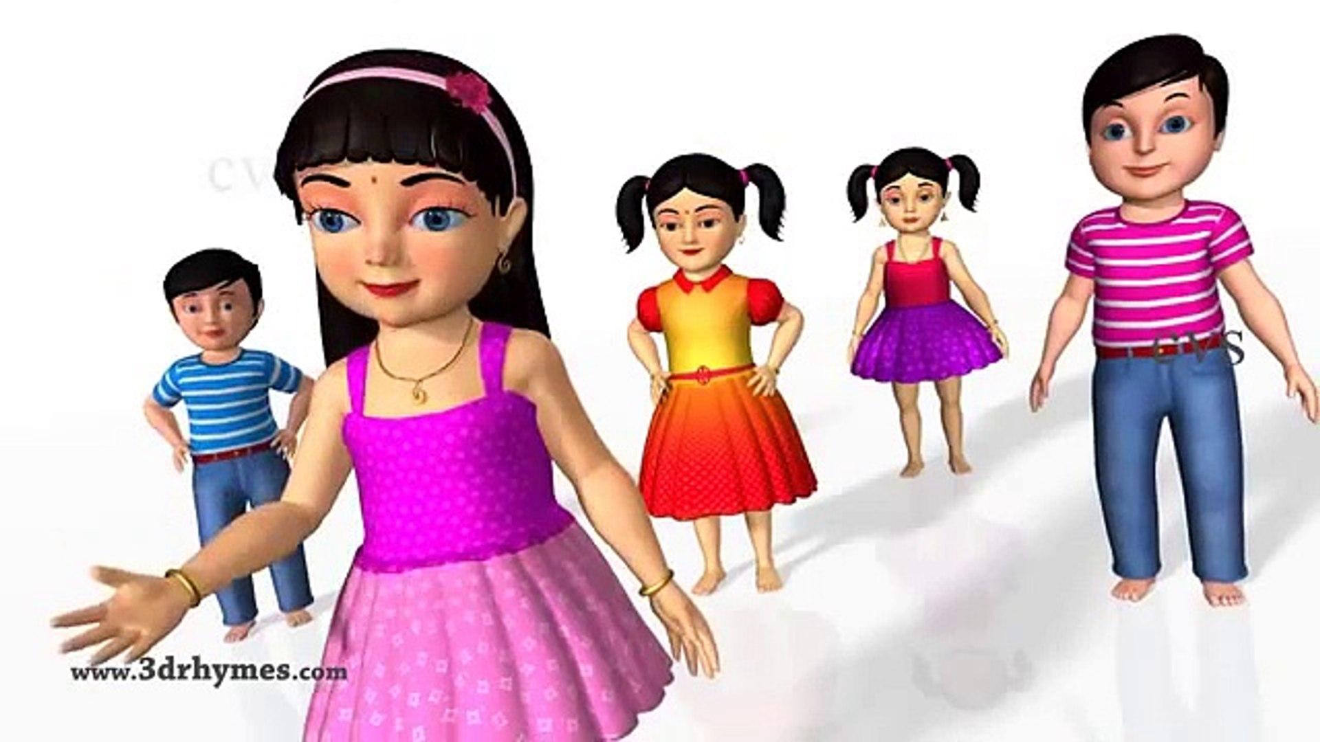 Ninja Turtles Cartoon Kids Nursery Rhyme Finger Family Children Rhymes Education