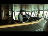 Brittany Ferries MV Pont Aven Bridge leaving Santander part 2