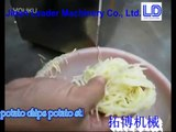 potato chips potato sticks cutting machine / papas fritas patatas paja máquina de corte video