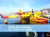 Visite du Canadair de la sécurité civile dans le Vieux-Port à Marseille