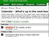 Nozbe Calendar with Google integration to GTD