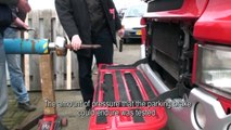 Brake testing semi trailers - Bremat floor screed installations